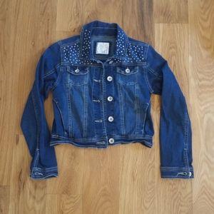 Justice embellished distressed jean jacket